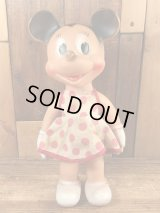 The Sun Rubber Minnie Mouse Squeeze Doll ミニーマウス ビンテージ ラバードール ディズニー 50年代