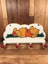 "Disney ""Winnie the Pooh"" Wall-Hung Hook Hanger くまのプーさん ビンテージ 壁掛けハンガー ディズニー 70年代"