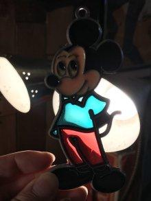 """他の写真1: Disney """"Mickey Mouse"""" Stained Glass Ornament ミッキーマウス ビンテージ オーナメント ステンドグラス 70年代"""