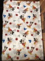 "Disney Mickey Mouse ""Mickey Mouse Mark"" Cloth ミッキーマウス ビンテージ 生地 ディズニー 2000年代~"