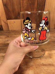 他の写真3: Disney Mickey & Minnie Mouse Footed Glass ミッキー&ミニーマウス ビンテージ グラス ディズニー 70年代