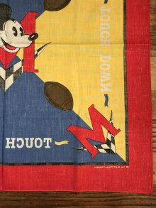 """他の写真2: Disney Mickey Mouse """"Touch Down"""" Bandana ミッキーマウス ビンテージ バンダナ ディズニー 80年代"""