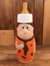 "Flintstones ""Fred"" Plastic Baby Bottle フレッド ビンテージ 哺乳瓶 フリントストーン 70年代"