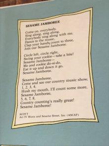 """他の写真1: Sesame Street """"Sesame Country"""" LP Record Book セサミストリート ビンテージ レコード 80年代"""