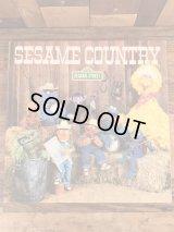 "Sesame Street ""Sesame Country"" LP Record Book セサミストリート ビンテージ レコード 80年代"