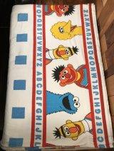 "Sesame Street ""Alphabet"" Flat Sheet セサミストリート ビンテージ フラットシーツ 80年代~"
