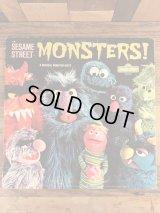 "Sesame Street ""Monsters!"" LP Record セサミストリート ビンテージ レコード 70年代"