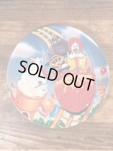"""McDonald's """"Roller Coaster"""" Plastic Plate マクドナルド ビンテージ プラスチックプレート 90年代"""