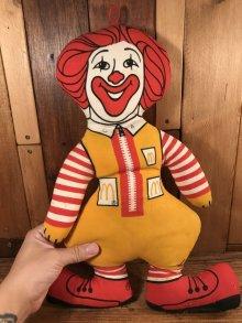 """他の写真3: McDonald's """"Ronald McDonald"""" Cloth Doll ロナルド ビンテージ クロスドール マクドナルド 70年代"""