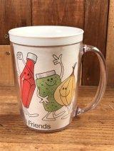 Armour Hot Dogs Plastic Mug ミスターホットドッグ ビンテージ マグカップ 70年代