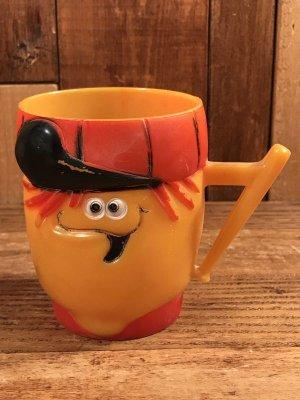 企業キャラクターのファニーフェイスのビンテージのマグカップ