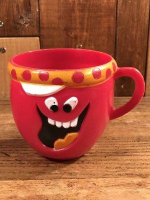 アドバタイジングキャラクターのファニーフェイスのビンテージのマグカップ