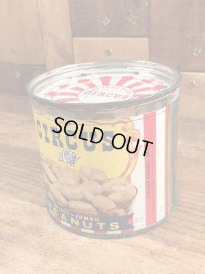 サーカスのピーナッツのヴィンテージのTin缶