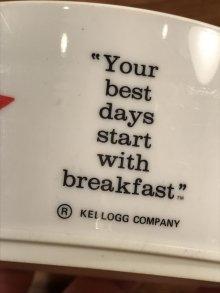 """他の写真3: Kellogg """"Raisin Bran Sun"""" Plastic Cereal Bowl レーズンブラン ビンテージ シリアルボウル ケロッグ 80年代"""