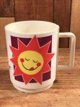 """Kellogg """"Raisin Bran Sun"""" Plastic Mug レーズンブラン ビンテージ マグカップ ケロッグ 80年代"""