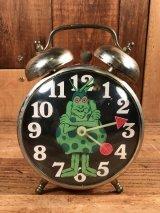 "Pepto Bismol ""24 Hour Bug"" Alarm Clock ペプトビスモル ビンテージ アラームクロック 24アワーバグ 70年代"