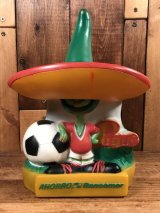 """Mexico86 """"Pique"""" Ahorro Bancomer Coin Bank ピケ ビンテージ コインバンクドール 貯金箱フィギュア 80年代"""
