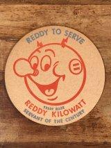 "Reddy Kilowatt ""Reddy To Serve"" Coaster レディキロワット ビンテージ コースター 50~60年代"