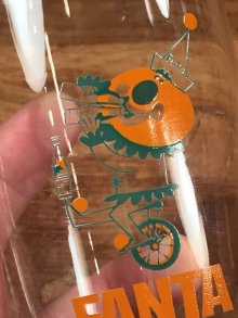 """他の写真1: Fanta Orange """"Unicycle"""" Glass ファンタオレンジ ビンテージ グラス ガラスコップ 60年代"""