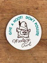 "Woodsy Owl ""Give A Hoot! Don't Pollute"" Magnet ウッジーオウル ビンテージ マグネット 70年代"