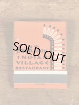 Smith Bros Indian Village Restaurant Matchbook インディアンヴィレッジレストラン ビンテージ マッチブック 60~70年代