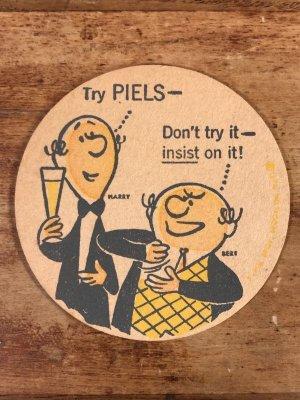Piels Beer ビンテージ コースター アドバタイジングキャラクター 企業物 60年代