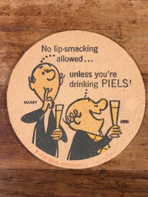 ピールズビール ビンテージ コースター アドバタイジングキャラクター 企業物 60年代