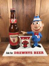 """Drewry's Beer """"Big D"""" Display Figure ビッグディー ビンテージ ディスプレイフィギュア ドリューリーズ 50年代"""