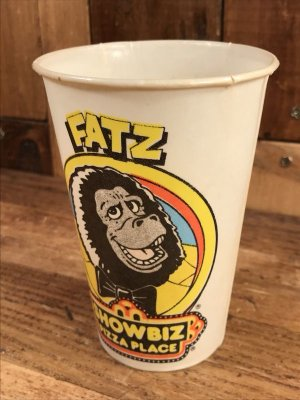 Show Biz Pizza ヴィンテージ 紙コップ 企業キャラクター Fatz 70's