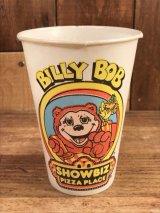 "Show Biz Pizza ""Billy Bob"" Paper Cup ショービズピザ ビンテージ ペーパーカップ ビリーボブ 70年代"