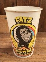 "Show Biz Pizza ""Fatz"" Paper Cup ショービズピザ ビンテージ ペーパーカップ 70年代"
