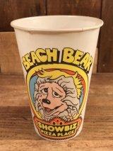 "Show Biz Pizza ""Beach Bear"" Paper Cup ショービズピザ ビンテージ ペーパーカップ 70年代"