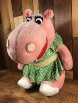 """Crest Toothpaste Zoo Animal """"Hippo"""" Plush Doll クレスト ビンテージ プラッシュドール ぬいぐるみ 70年代"""