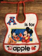 A is for Apple Disney Baby Bib ディズニーベビー ビンテージ スタイ よだれかけ 80年代