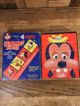 Walt Disney 4 Famous Scramble Faces ディズニー ビンテージ スクランブルフェイス ミッキーマウス 60年代