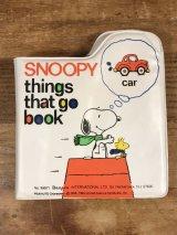Peanuts Snoopy Things That Go Vinyl Book スヌーピー ビンテージ ビニール絵本 90年代