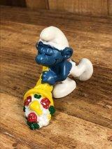 "Schleich Smurf ""Horn of Plenty"" PVC Figure スマーフ ビンテージ PVCフィギュア 70年代"