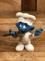 "Schleich Smurf ""Cook Chef"" PVC Figure スマーフ ビンテージ PVCフィギュア 70年代"