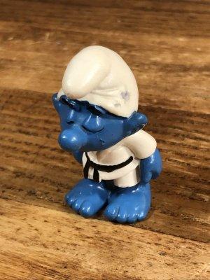 Smurf ヴィンテージ PVCフィギュア 空手 80's