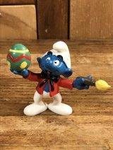 "Schleich Smurf ""Painting Easter Egg"" PVC Figure スマーフ ビンテージ PVCフィギュア イースター 90年代"