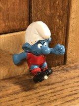 "Schleich Smurf ""Football"" PVC Figure スマーフ ビンテージ PVCフィギュア 70年代"