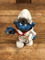 """Schleich Smurf """"Doctor"""" PVC Figure スマーフ ビンテージ PVCフィギュア 70年代"""