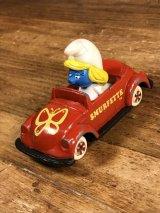 "The Ertl Smurf ""Smurfette"" Digest Minicar スマーフェット ビンテージ ミニカー スマーフ 80年代"