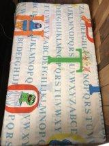 "Sesame Street ""Alphabet"" Flat Sheet セサミストリート ビンテージ フラットシーツ 生地 80年代"