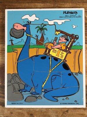 80年代頃のフリントストーンのビンテージのウッドパズル