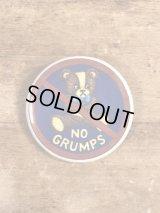 No Grumps Pinback メッセージ ビンテージ 缶バッジ 缶バッチ 80年代