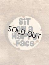 Sit On A Happy Face Pinback メッセージ ビンテージ 缶バッジ 缶バッチ 80年代