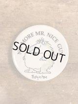 No More Mr. Nice Guy. Sandra Boynton Pinback サンドラボイントン ビンテージ 缶バッジ 缶バッチ 80年代