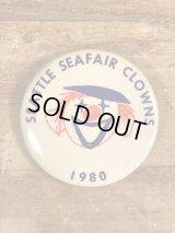 Seattle Seafair Clowns Pinback シーフェアクラウン ビンテージ 缶バッジ 缶バッチ 80年代