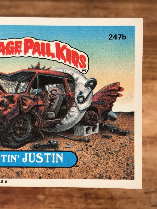 Garbage Pail Kid Number 247b Rustin/' Justin